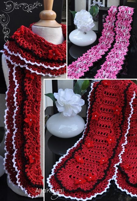 red crochet scarf | Crochet Bufandas | Pinterest