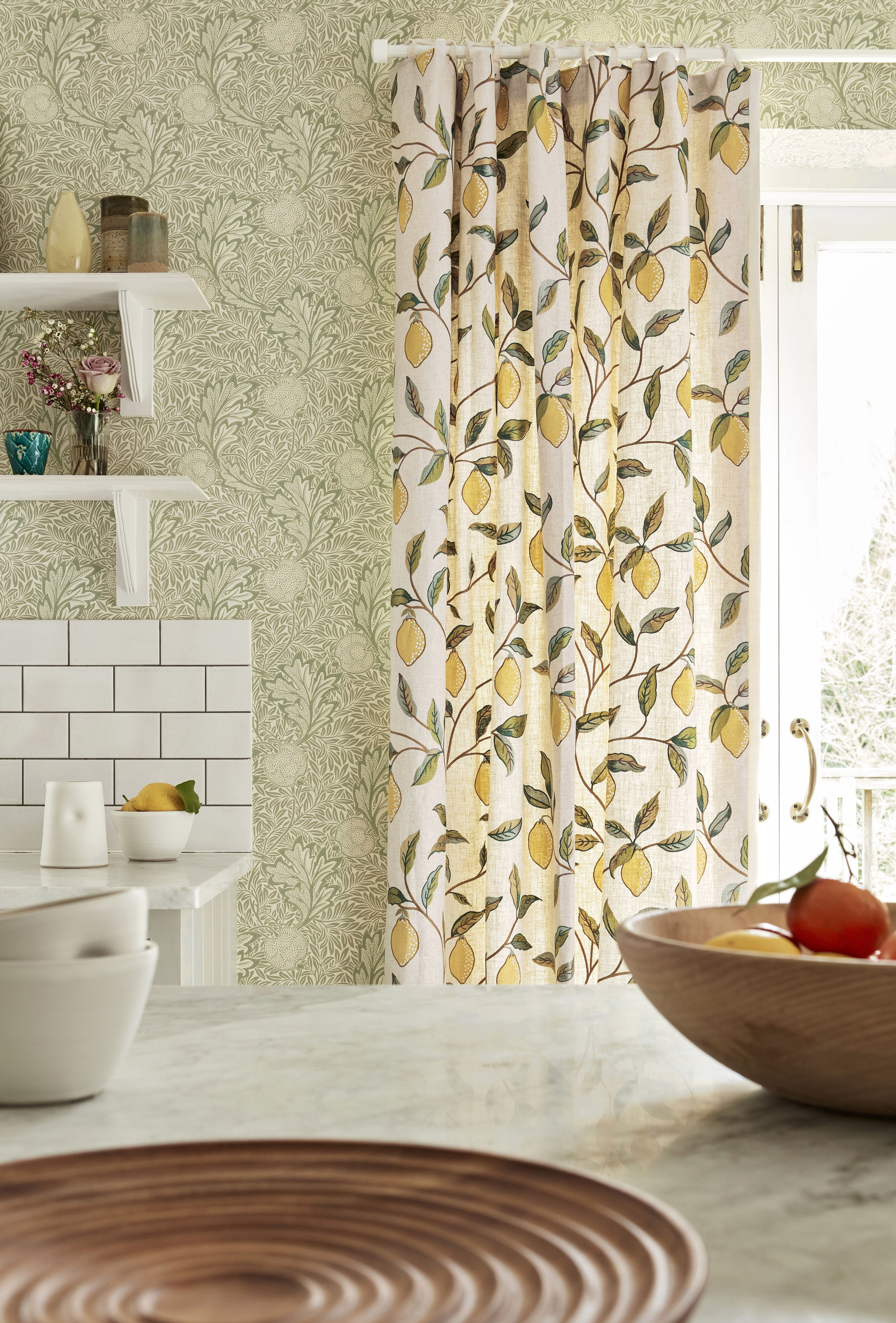 Morris & Co Apple Bay Leaf in 2020 Apple wallpaper