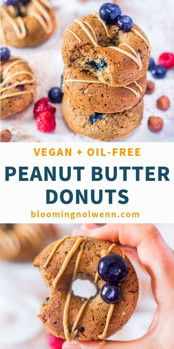 Blueberry Peanut Butter Baked Donuts | Vegan, Gluten-Free – Blooming Nolwenn