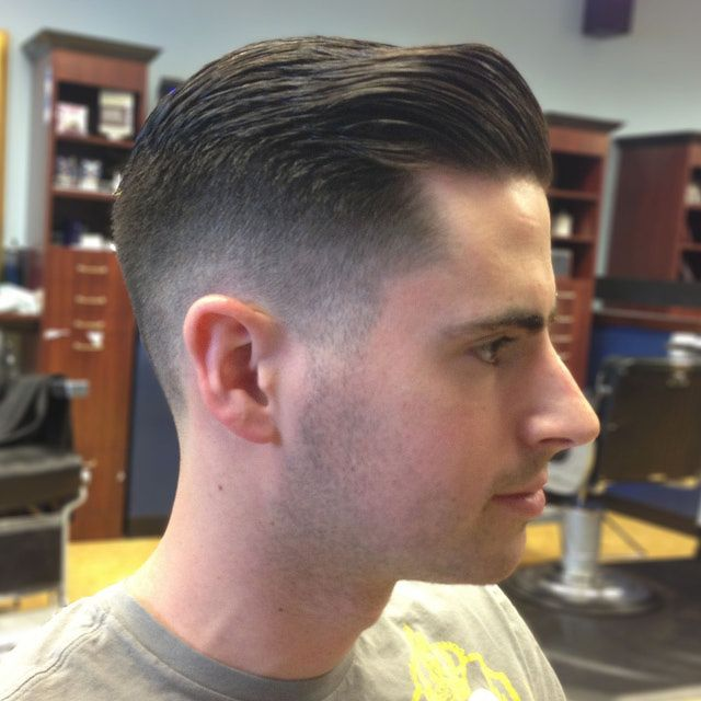 Taper Hairstyles classic taper haircut comb over and beard Get The Perfect Mans Haircut The Classic Tapered Haircut