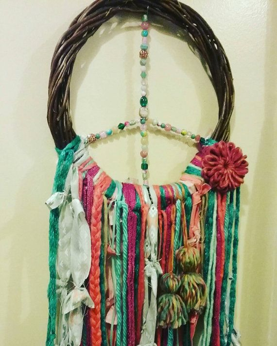 Hey, I found this really awesome Etsy listing at https://www.etsy.com/listing/503779613/peace-wreath-peace-dreamcatcher-wreath
