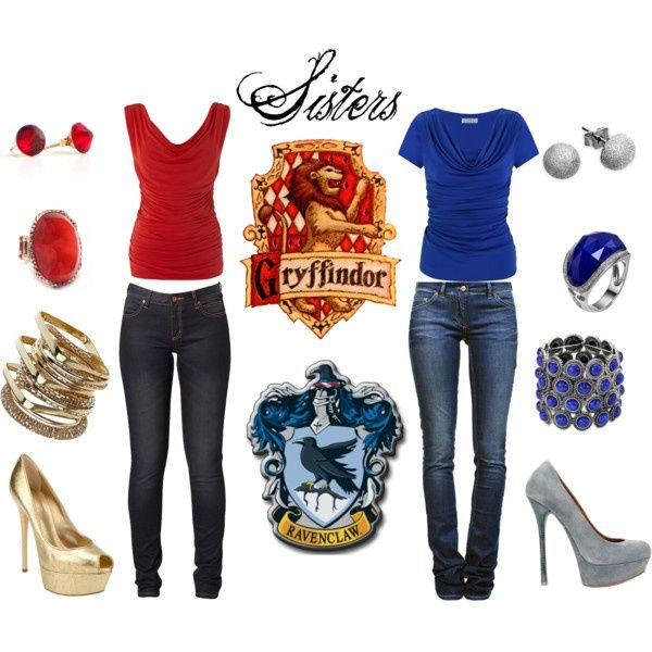 Gryffindor and Ravenclaw sisters, cuz we are pretty much like sisters❤️💙
