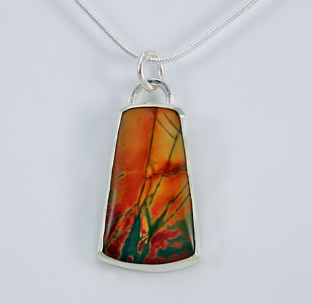 Handcrafted sterling silver and red creek jasper pendant autumn handcrafted sterling silver and red creek jasper pendant autumn colors natural stone contemporary abstract artisan jewelry 14716237101716 aloadofball Image collections