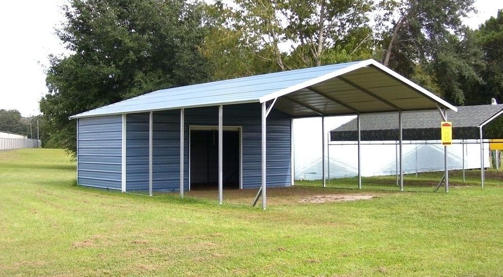 Metal carports can be made for storage, entertainment
