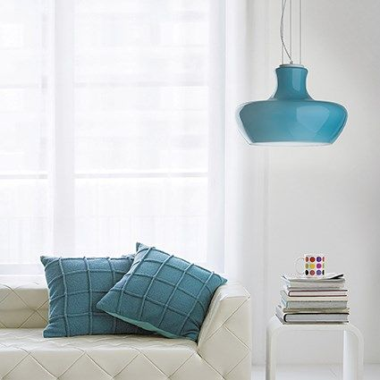 Luminaire suspendu – suspension luminaire bleu – suspension ...
