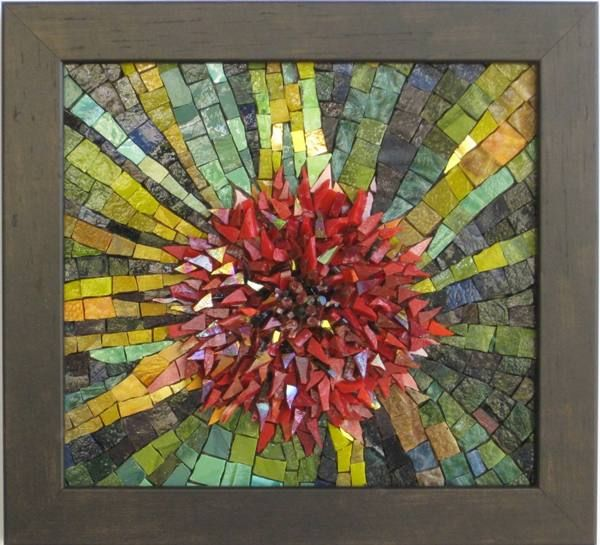 Mexican Smalti Flower Bomb Mosaics By The Sea Mosaic