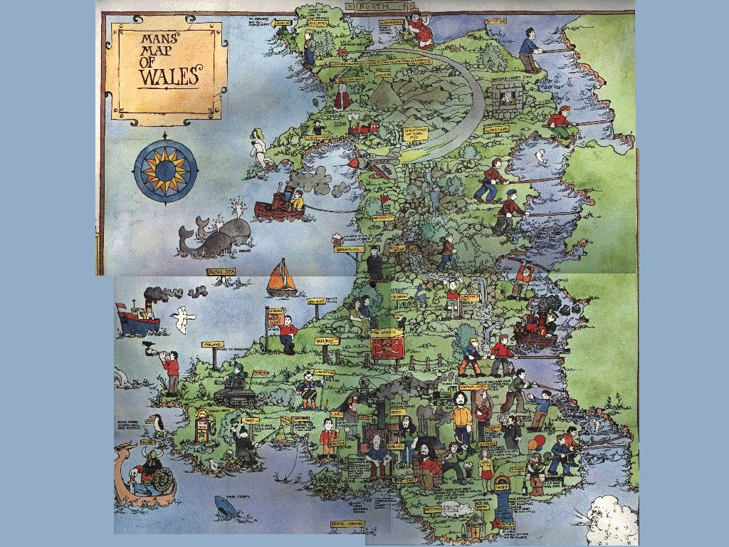 Explore Welsh Map Map Of Wales and