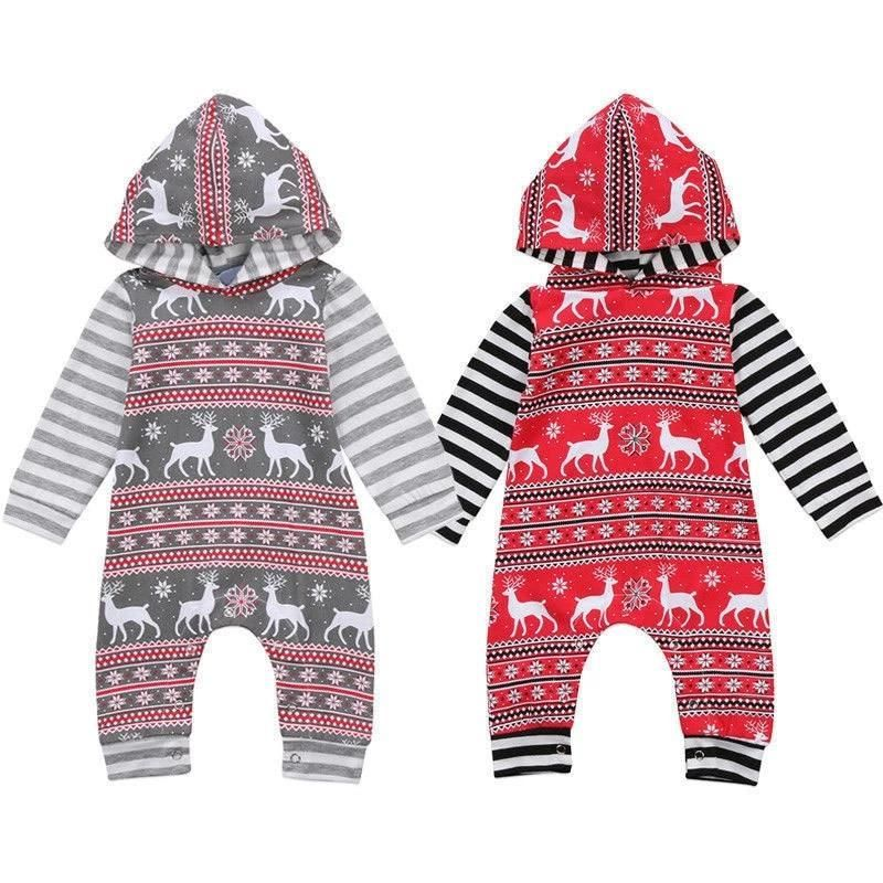 Christmas Hipster Aztec Hooded Romper #aztec