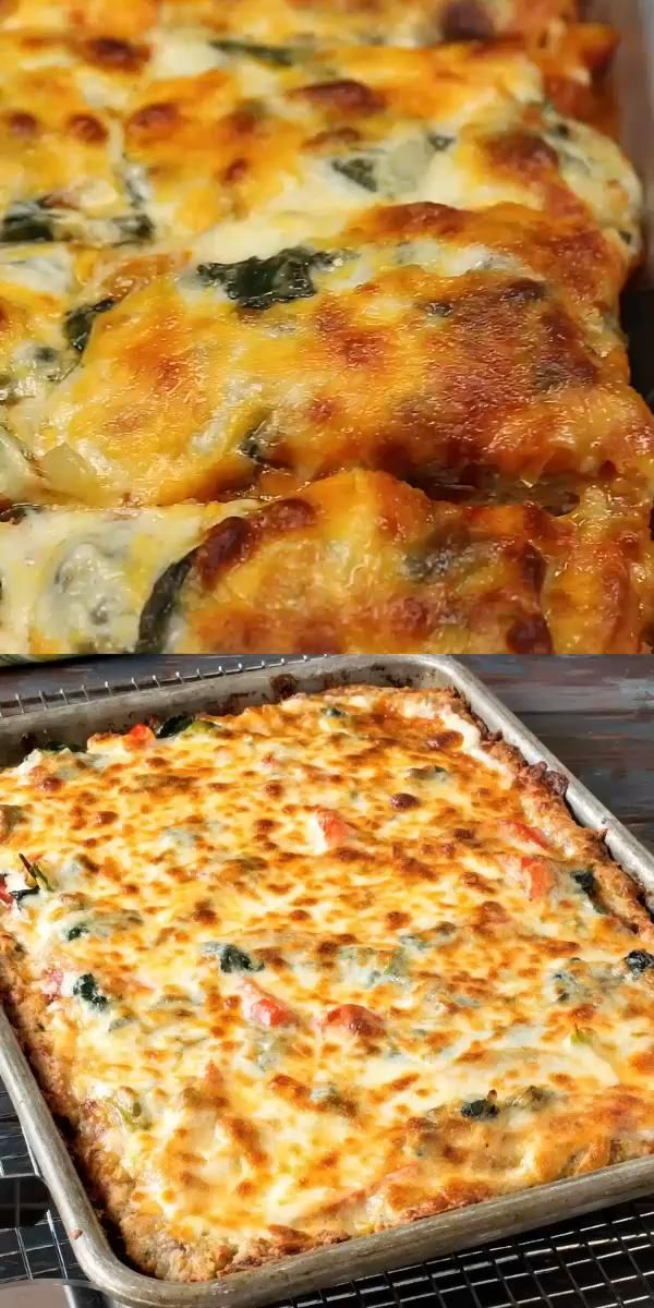 Keto Sheet Pan Pizza - Delicious Low Carb Recipes