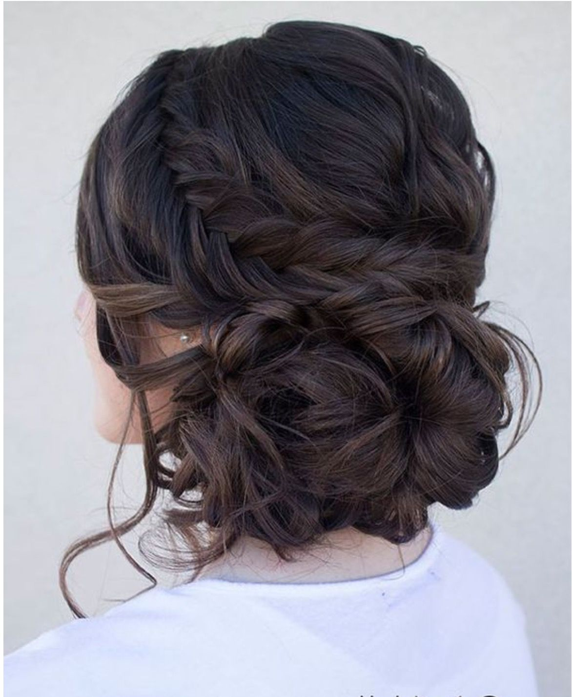 Sam Updo On Dark Brown Hair As Opposed To Highlighted