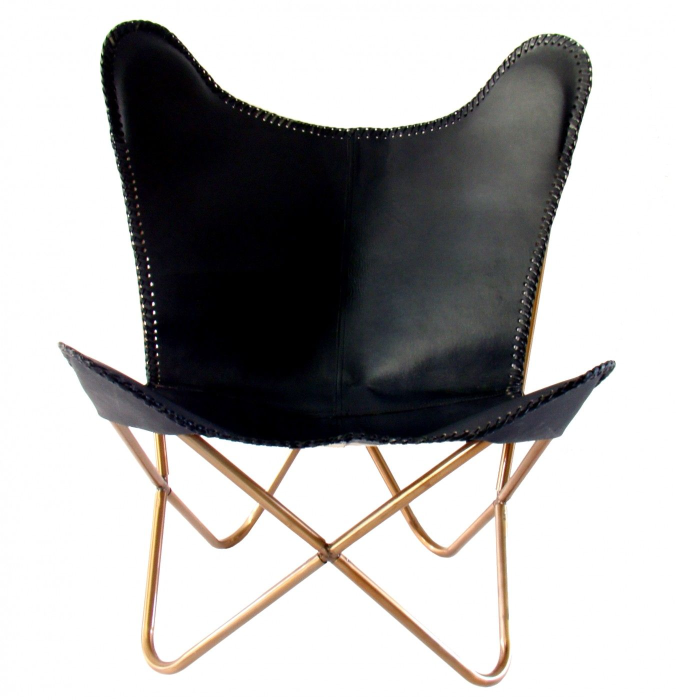 Butterfly chair black - Butterfly Chair Black Leather
