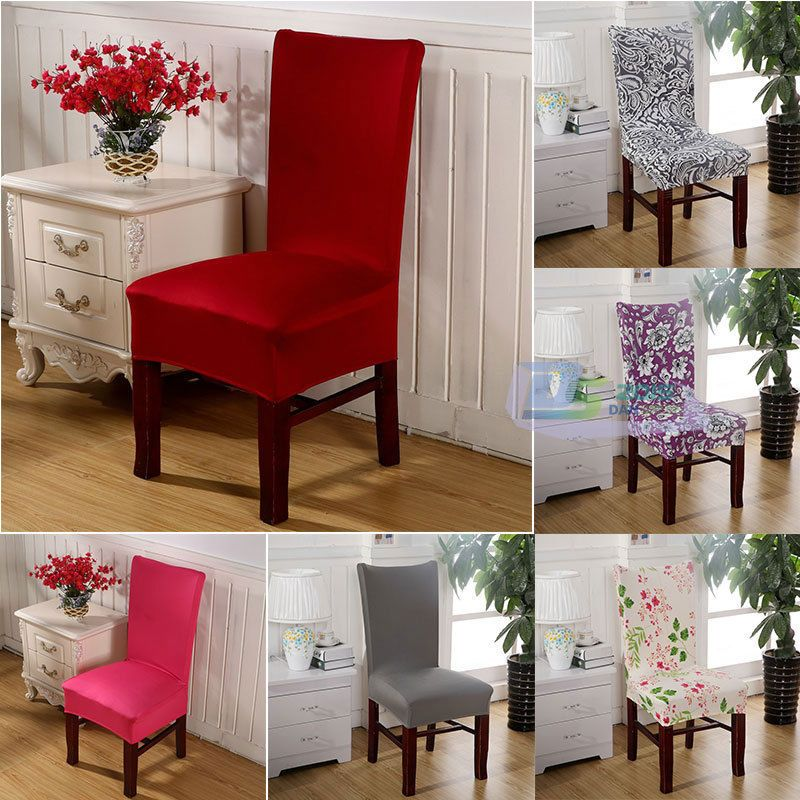 Details About Stretch Elastic Dining Room Wedding Banquet Chair Cover Decor Washable Slipcover
