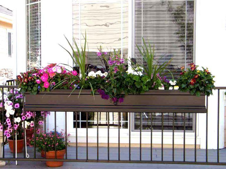 Deck Over Railing Plant Hangers Balcony Plants Garden Design