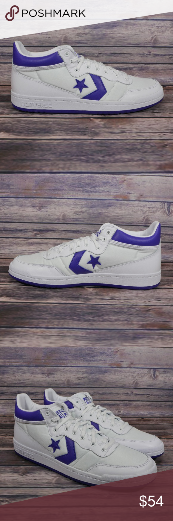 c5ae9b1b0d9b4c NEW Converse Fastbreak 83 Mid White Grape Sneaker Converse Fastbreak 83 Mid  White Grape Sneakers With Lunarlon 156972C Mens Sz 10.5 M. New without box.