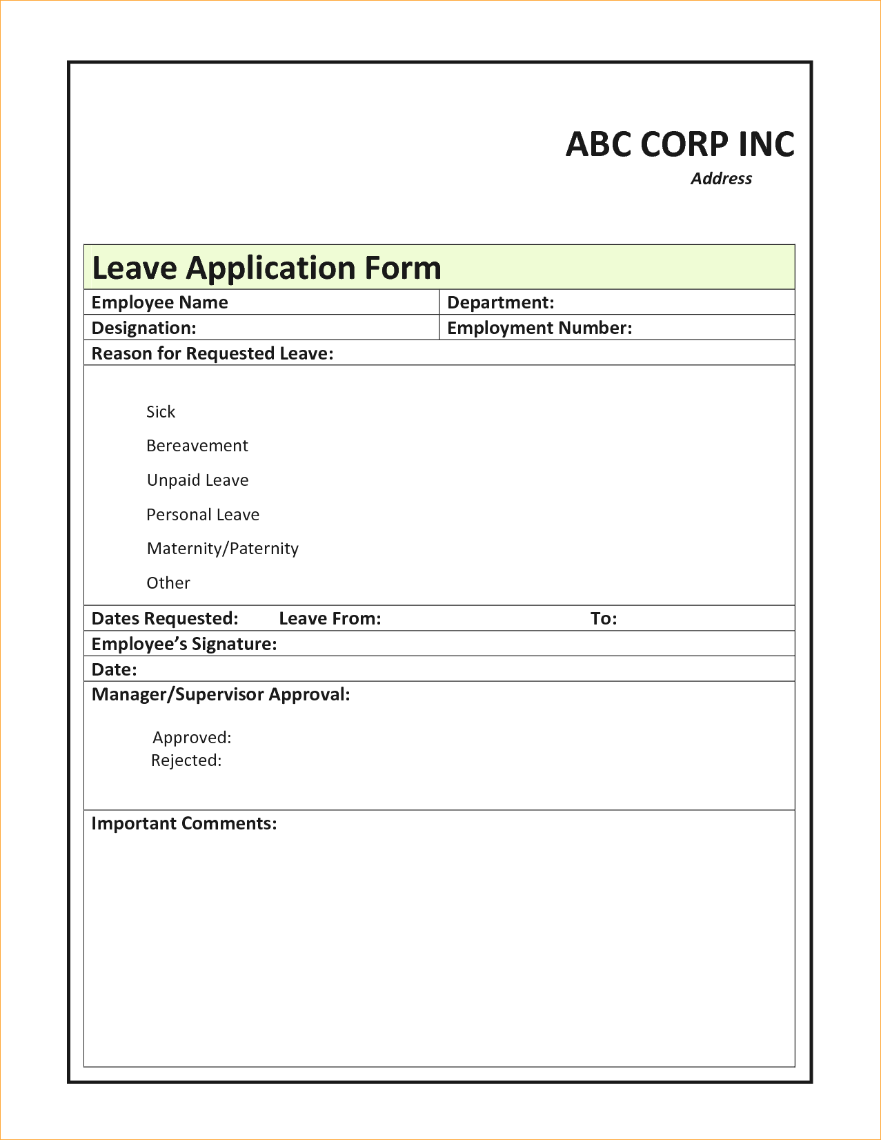 Format Of Leave Form Baby Certificate Maker Writing A Reference
