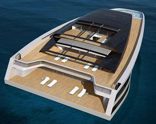 Wally Hermes Solar Powered Mega Yacht It Has A Swimming Pool And Is Powered By A Diesel Electric Engine And 390 Square Meters Of Rooft Solar Power Yacht Solar