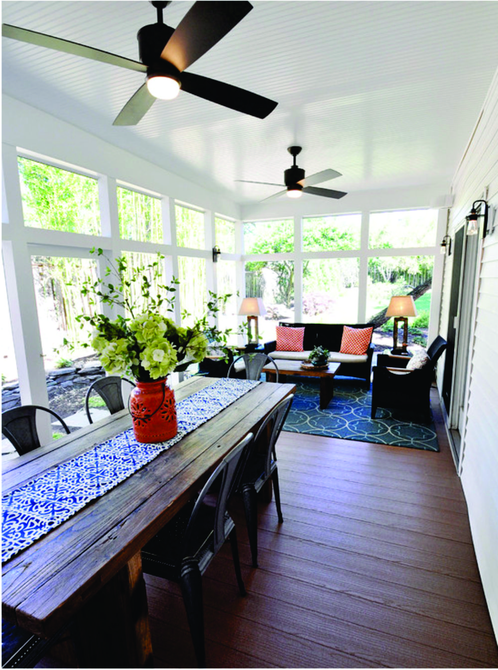 Great Rustic Table And Wood Floors Sunroom Decorating Sunroom Dining Porch Design