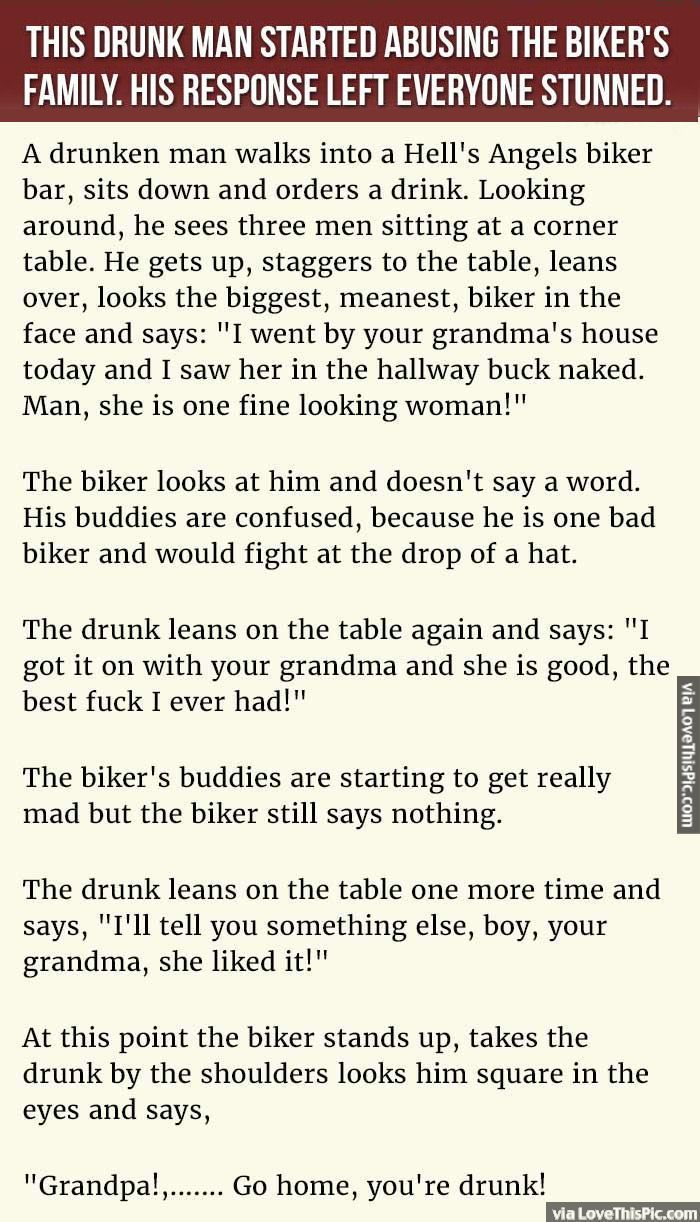 A Drunk Man Starts Abusing This Biker S Family But His Response Left