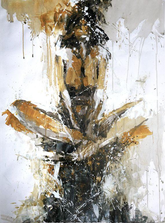 "Saatchi Art Artist: Khalid Khan - KAAY; Acrylic Painting ""untitled"""