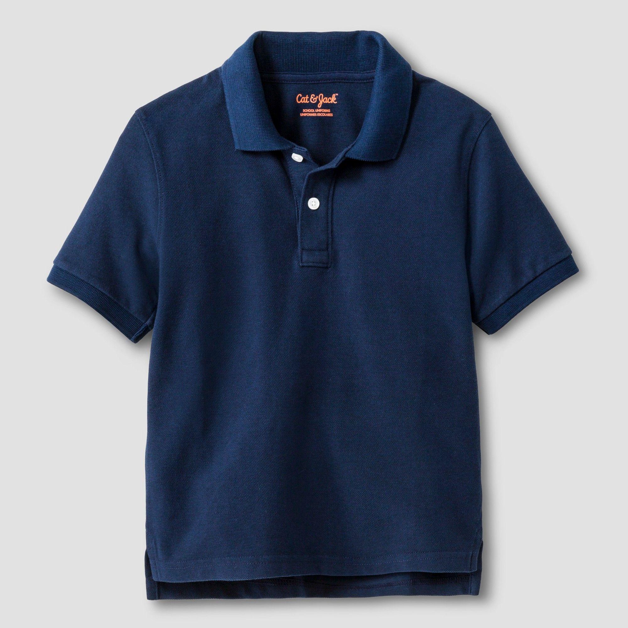 0bb0a2e26 Toddler Boys' Short Sleeve Pique Polo Shirt - Cat & Jack Navy (Blue) T,  Size: 3T
