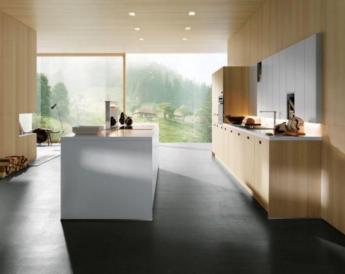Kuchyň next125 NX125 NX620, jedle přírodní kartáčovaná v kombinaci s