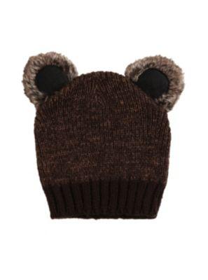 Koala Brown Knit Beanie Hot Topic