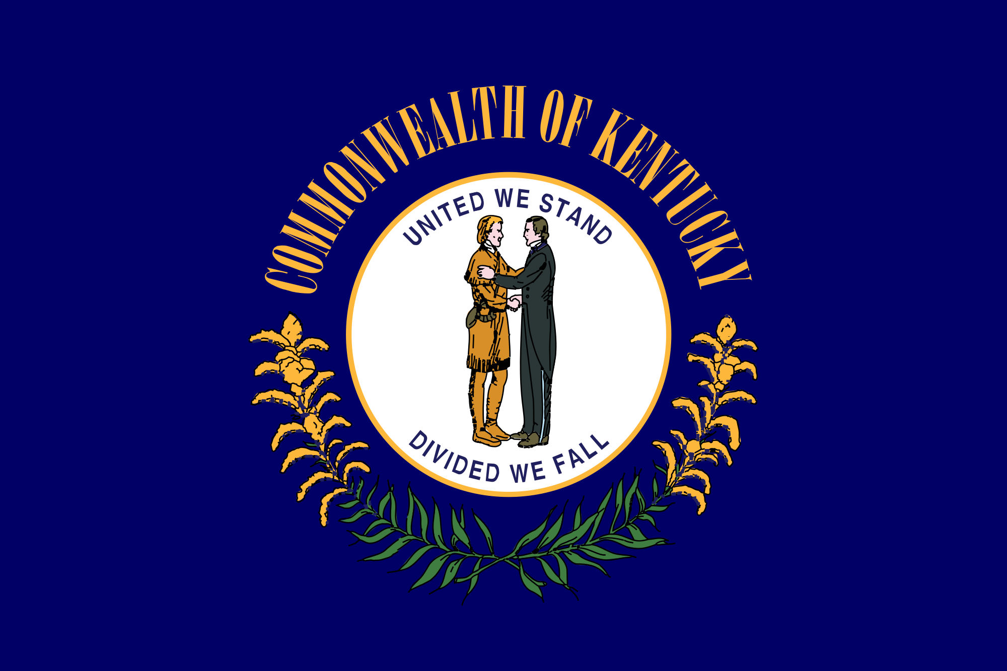 Clip Art Kentucky State Flag Coloring Page 1000 images about state flags on pinterest marine flag washington and florida flag