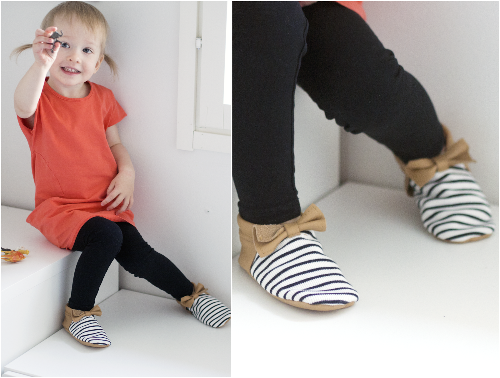 And Something Daily - NOSH fabric used in these cute moccasins!