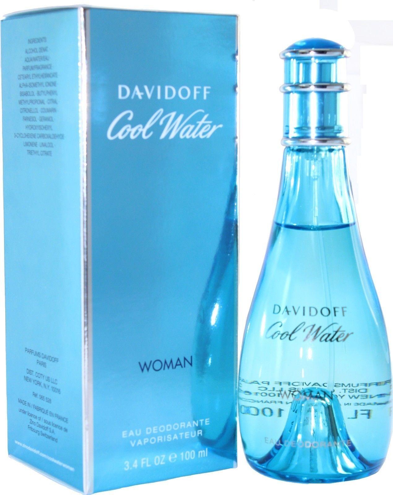 COOL  WATER  by  Davidoff  Perfume  Deodorant  Spray  3.4 / 3.3 OZ  / 100 ML NIB