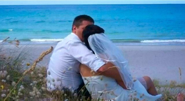 Cute newlyweds in the southern Caribbean.  www.1great-trip.com