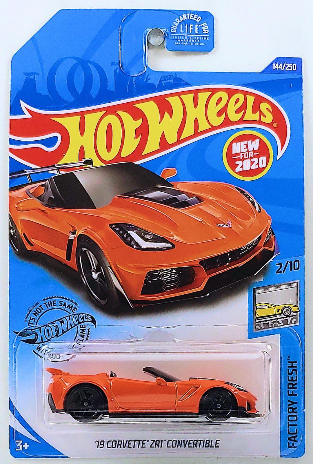 Hot Wheels Chevy Corvette ZR1 Conv 2019 Orange 144//250 1//64