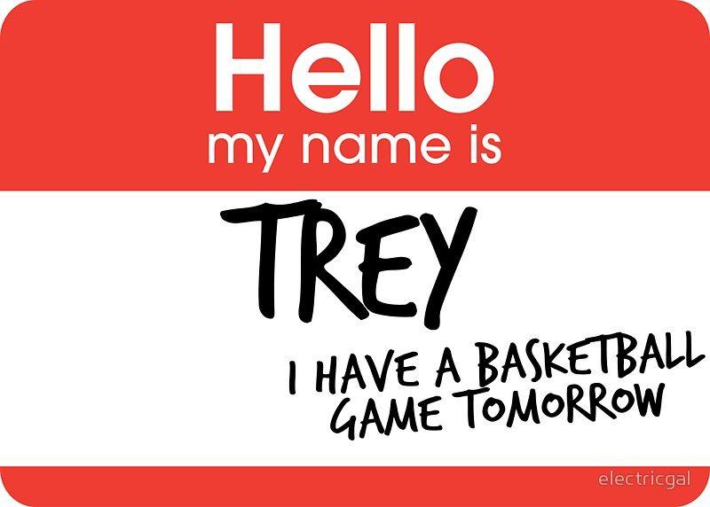 Hi My Name Is Trey Vine Sticker By Electricgal Declan