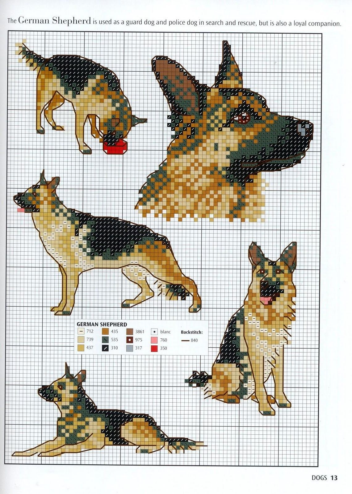 Ago-Works Butterfly: cani e cuccioli Punto Croce Schemi
