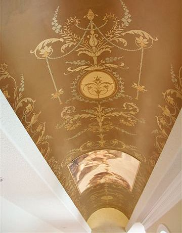 Classical Stenciled Ceiling With Images Ornament Tapety