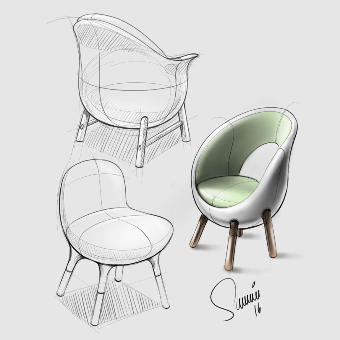 Furniture Sketches Product Design Sketchbook 2016 On Behance Furniture Sketching