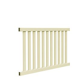 Freedom Ready-To-Assemble Durham Sand Vinyl Fence Panel (Common: 4-Ft