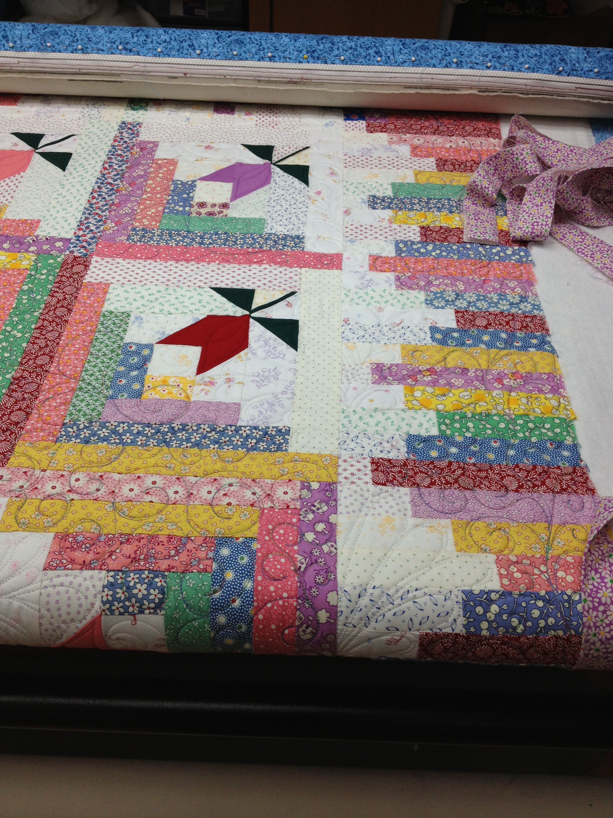 Log Cabin Quilt Made By Kim Pattern Is Spring Valley Log