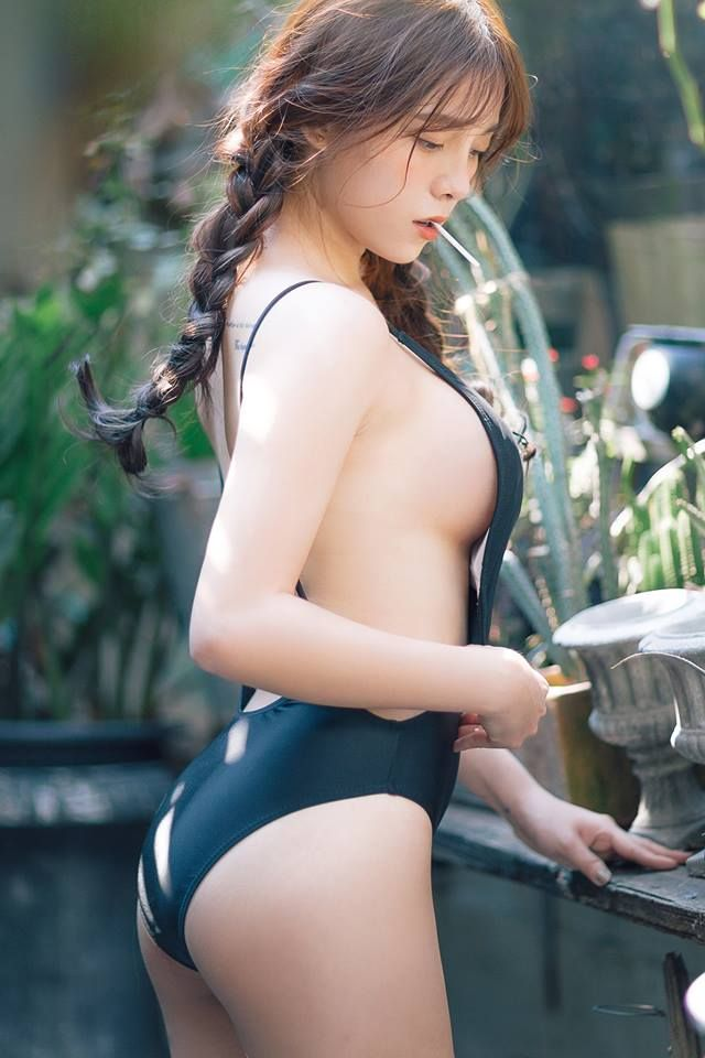 swimsuits Hairy asian girls