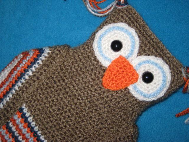 Owl Hot Water Bottle Cover PJ Pyjama Case Pillow Crochet PATTERN PDF ...