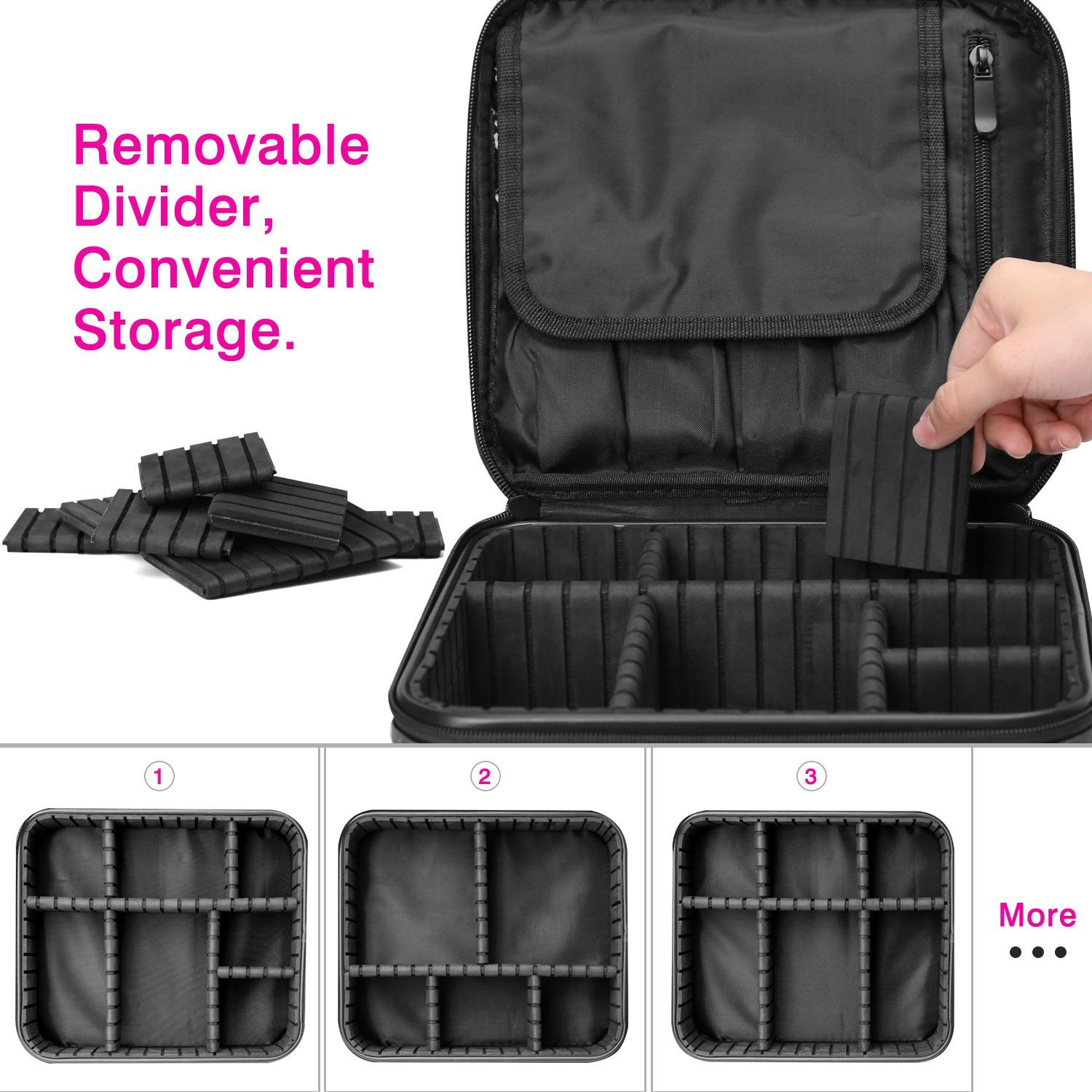 Luxspire Makeup Cosmetic Storage Case Professional Make Up Train Case
