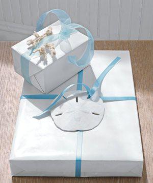 coastal gift wrap