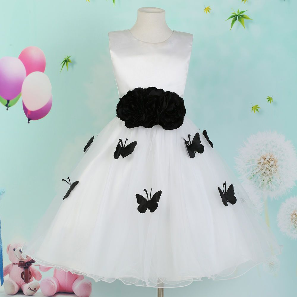 Flower Girls Kids Prom Birthday Party Bridesmaid Wedding Dress Age 7 ...