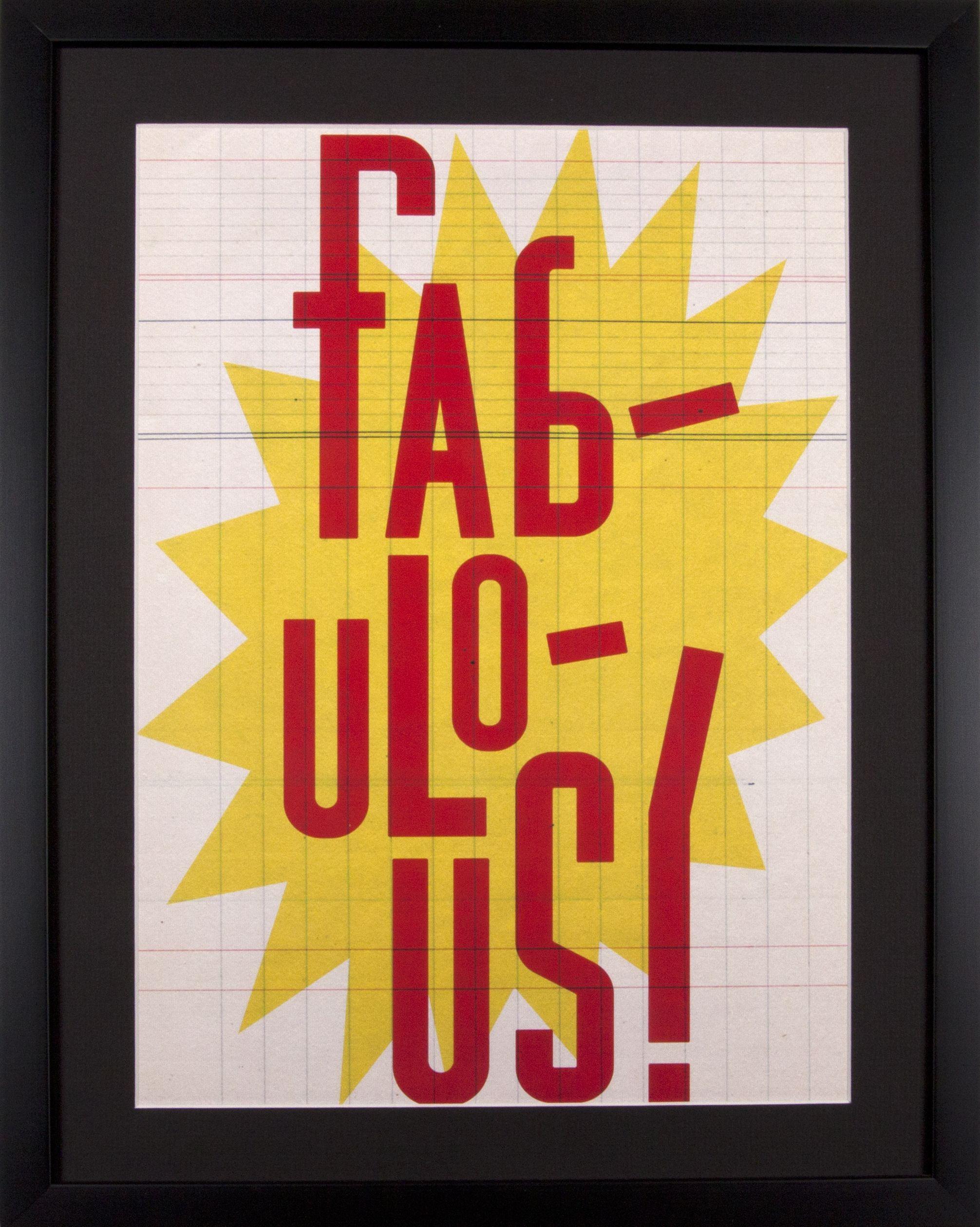 Affiche encadrée SELMA, rouge et jaune - 50*40 | Westwing Home & Living