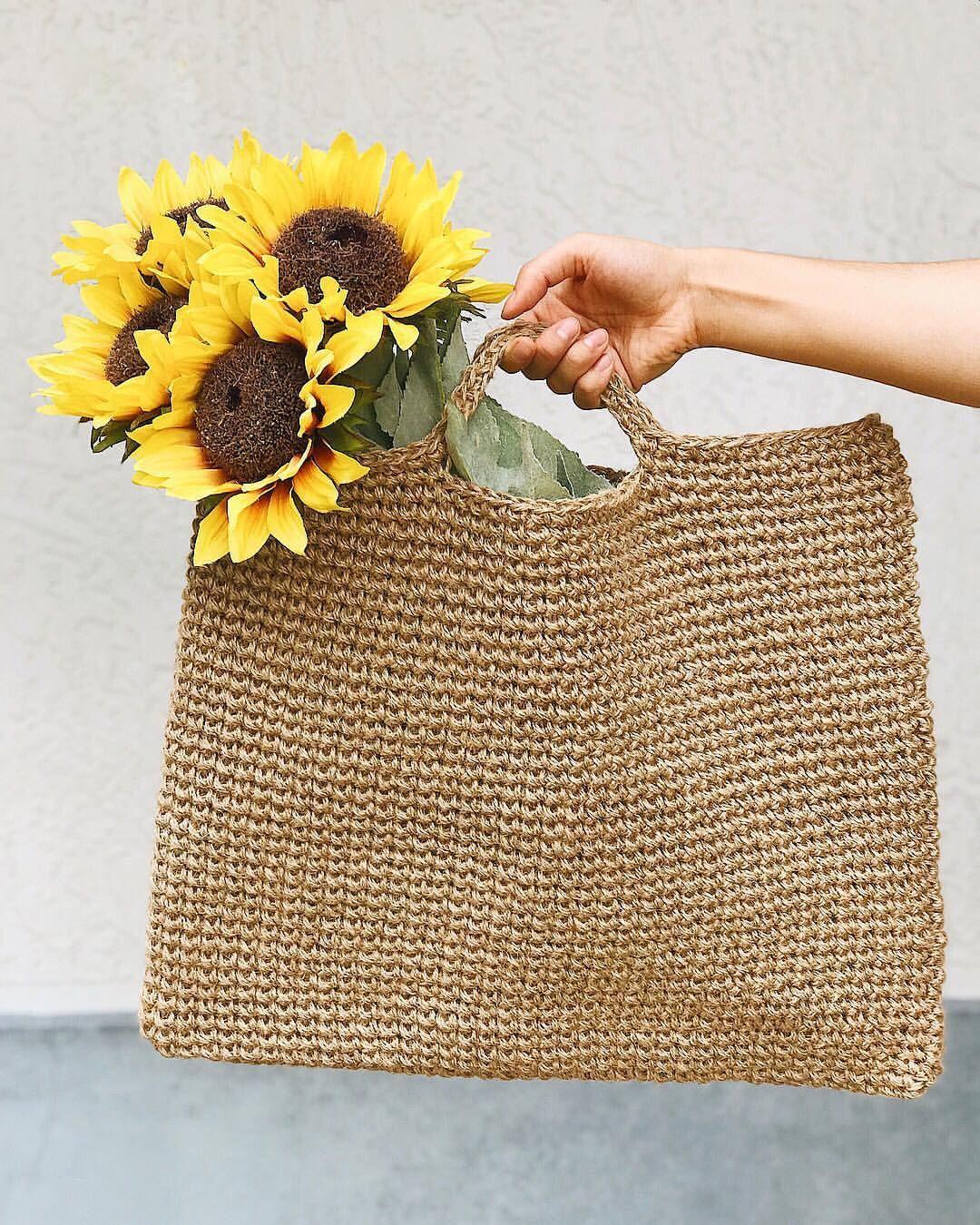 Natural Jute Twine Bag Crochet Pattern By Brennaannhandmade In