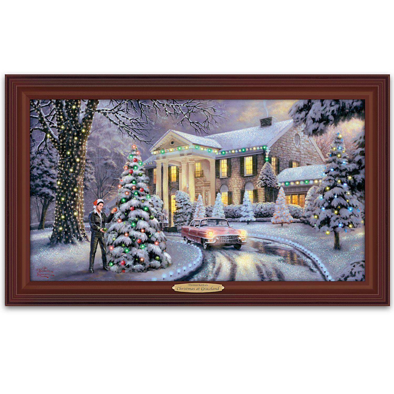 Home Depot Illuminated Canvas : Thomas kinkade christmas at elvis presley s graceland home