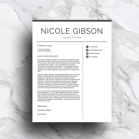 A cover letter template with embedded tips to help you sound like a