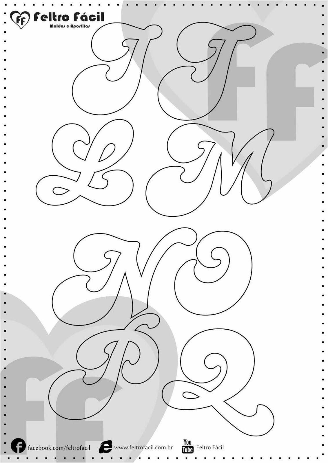Cartamodelli alfabeto per feltro e pannolenci lettere - Modello di scrittura vichingo ...
