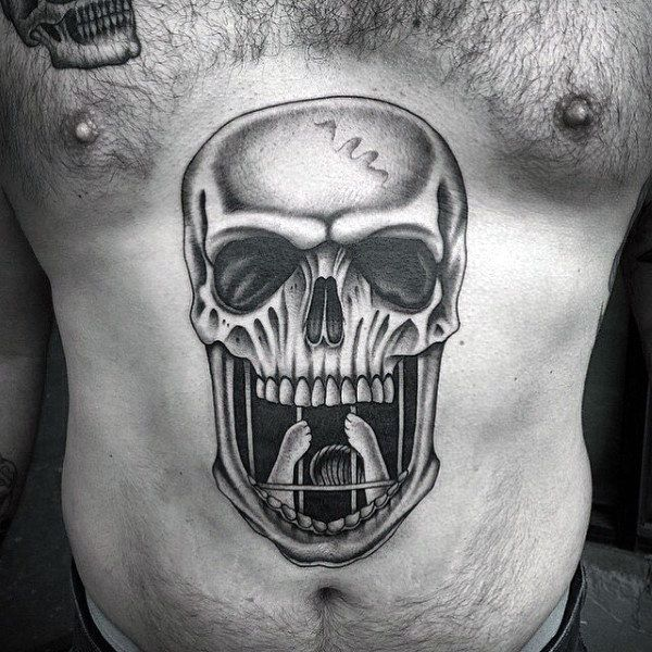 Top 100 Best Stomach Tattoos For Men - Masculine Ideas