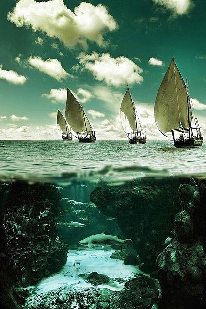 Danger below the calm waters