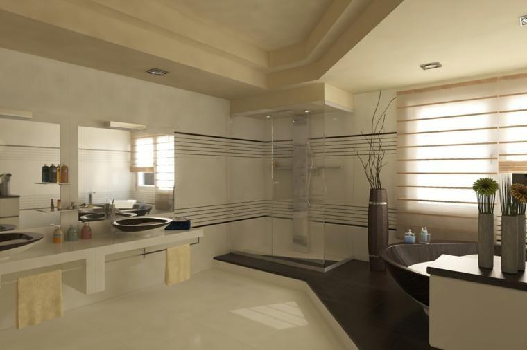 Minimalistische baden u de grootte van de eenvoudigste huis